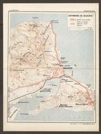 CARTE PLAN 1934 N° 294 - TUNISIE TUNISIA ENVIRONS De BIZERTE - ROUTES CHEMINS De FER OLIVIERS MENZEL ZARZOUNA - Topographische Kaarten