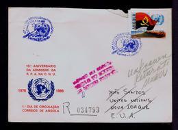 Angola R.P.A. Entrance On ONU 1976-1986  UNO Flags Portugal Sp5944 - ONU