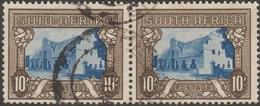Afrique Du Sud 1939 Y&T 114 Et 115, Michel 93 En Paire. Aussi Le 1 D - Gebruikt