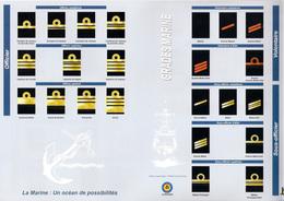 GRADES MARINE GRADEN Blad Feuille 31,8x21cm Recto Verso Belgische Zeemacht Force Navale Belge Militaire Militair R447 - Marine