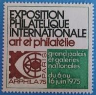 France 1975 : ARPHILA Du 6 Juin Eu 16 Juin Grand Palais Paris N° 20 - Philatelic Fairs