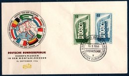 EUR 1956  Allemagne FDC Timbres Europa BONN 15/09/1956 - Europa-CEPT