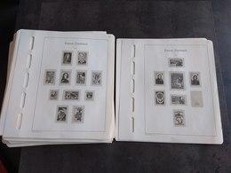 TIMBRE FRANCE LEUCHTTURM LOT 105 FEUILLES 1965 A 1983 TBE - Albums & Binders
