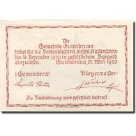 Billet, Autriche, Gutenbrunn, 20 Heller, Château, 1920 SPL Mehl:FS 316 - Austria