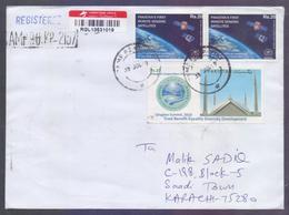 SPACE, Pakistan's First Remote Sensing Satellites, Qingdao Summit Shanghai Cooperation Organization Postal History Cover - Pakistan