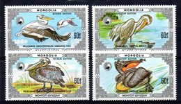 Mongolie Mongolia 1481/84 Pelicans - Pélicans