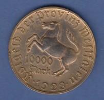 Münze Westfalen Notgeld Inflation 1923 10000 Mark Freiherr V. Stein Und Pferd - [ 3] 1918-1933 : Weimar Republic