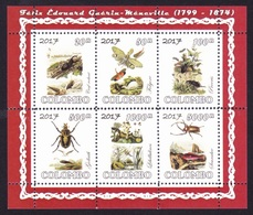 BEETLES / SCARAPÉES - Paintings Of Féliz Edouard Guérin-Ménerville, Colombo 2017 / Private Issue - MNH - Unclassified