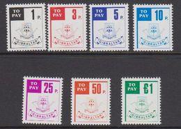 Gibraltar 1984 Postage Due / Portomarken 7v ** Mnh (43576) - Gibraltar