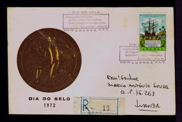 Camões Lusiadas Phoesy ANGOLA Europe Lusitaneo King SCARCE Portugal 1972 Pmk Stamp's Day Sp5949 - Día Del Sello