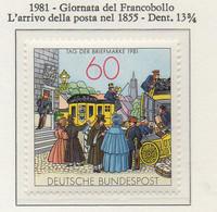 PIA - GERMANIA : 1981 : Giornata Del Francobollo - L'arrivo Della Posta Nel 1855 - (Yv 944) - Giornata Del Francobollo