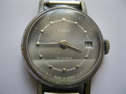 VINTAGE USSR Lady`s Watch ZARIA  22 Jewels For Parts Or Repair - A 6871 - Orologi Antichi
