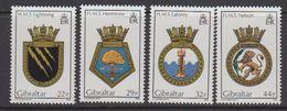 Gibraltar 1986 Naval Arms 4v ** Mnh (43576A) - Gibraltar