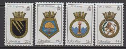 Gibraltar 1986 Naval Arms 4v ** Mnh (43576B) (22p Thin Spot Perf. Corner) - Gibraltar