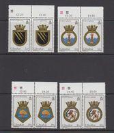 Gibraltar 1986 Naval Arms 4v (pair)  ** Mnh (43576E) - Gibraltar