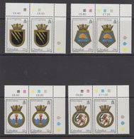 Gibraltar 1986 Naval Arms 4v (pair, Corner)  ** Mnh (43576F) - Gibraltar