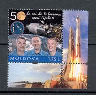 Moldova 2019 50 Anniversary Of The Apollo 9 Space Mission Personalized Stamp** MNH - Moldova
