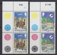 Gibraltar 1986 Christmas 2v (pair, Corner) ** Mnh (43576G) - Gibraltar
