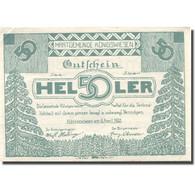 Billet, Autriche, Konigswiesen, 50 Heller, Forêt, 1921, SUP+ Mehl:FS 464 - Austria