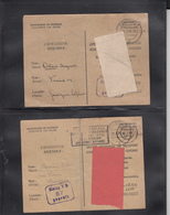 2 Documents   Secours Aux Prisonniers De Guerre  1943     2 Scan - Guerra '40-'45