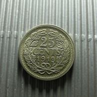 Netherlands 25 Cents 1919 Silver - [ 3] 1815-…: Königreich Der Niederlande