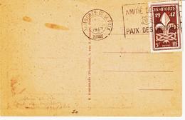 France, Du Jamborée De La Paix En 1947 Concordance Avec Le Tp  Scoutisme  TB - Marcophilie (Lettres)