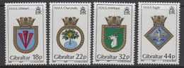 Gibraltar 1987 Naval Arms 4v ** Mnh (43577) - Gibraltar