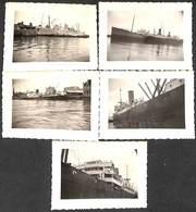 Série De 5 Petites Photographies Elisabethville Baltic - Boten