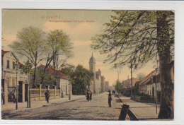 Gleiwitz - Kronprinzenstrasse Mit Luth. Kirche - 1908 - Schlesien