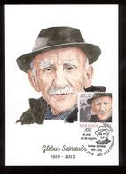 Moldova 2019  Glebus Sainciuc Artist Portraitist 100th Birth Anniversary Maxicard - Moldova
