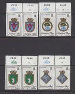 Gibraltar 1987 Naval Arms 4v (pair)  ** Mnh (43577A) - Gibraltar