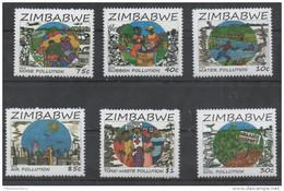 ZIMBABWE , 2016,MNH, POLLUTION ,6v - Environment & Climate Protection