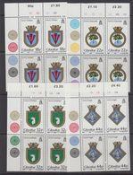 Gibraltar 1987 Naval Arms 4v (bl Of 4 (corners) ** Mnh (43577B) - Gibraltar