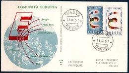 EUR 1957 Italie FDC Timbres Europa  Milan 16/09/57 - Europa-CEPT
