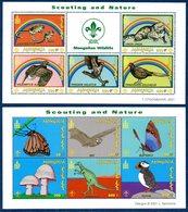 Mongolie Mongolia 2566/85 Elephant, Papillon, Champignon, Orchidée, Scout, Coquillage, Grenouille, Tortue - Stamps