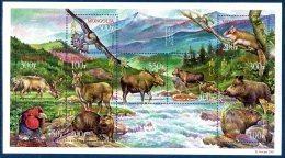 Mongolie Mongolia 2673/82 Faune Endémique, Oiseau, Sanglier, Castor, Loutre, élan, Orignal, Aigle, Renne, écureuil - Stamps