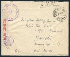1943 Egypt O.A.S. Polish Forces Fieldpost 114 Censor Cover - Polish Red Cross, Nairobi Kenya. E.A. A.P.O. 86 - Covers & Documents