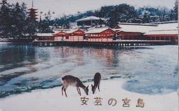 Télécarte Japon / 110-011 - ANIMAL - BICHE DAIM - HIND DAW Japan Phonecard - HIRSCH Telefonkarte - 130 - Télécartes