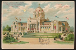 HOLD CARD  TO LIGHT   -   OFFICIAL SOUVENIR POSTAL CARD   - MISSOURI STATE BUILDING   2 SCANS - Hold To Light