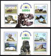 Mongolie Mongolia 2665/72 Dinosaure, Panthère Des Neiges, Aigle, Yack, Chameau, Préhistorique - Stamps
