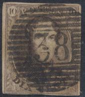 """Médaillon - N°10A Margé Obl P38 """"Enghien"""". Superbe Centrage - 1858-1862 Médaillons (9/12)"""