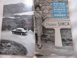 Livret - GUIDE POUR LA VISITE DES USINES  SIMCA AUTOMOBILES DE POISSY  - Format : 21  X 13 Cm  50 Pages - Cars