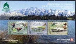 NEW ZEALAND, 2018, MNH, PREDATOR FREE2050, MACAO EXHIBITION, BIRDS, REPTILES,LIZARDS, FROGS, BUTTERFLIES, MOUNTAINS, SLT - Birds