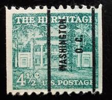 USA Scott #1059, Precancel Washington, DC, 1954 - United States