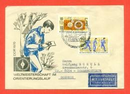 ORIENTAMENTO - GERMANIA EST - DDR - WELTMEINSTERSCHAFT IM  ORIENTIERUNGSLAUF -  1970 - Francobolli