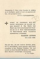 ZA 20/  HOUTVENNE  1936  1e H.MIS E.H. EUGEEN LEYSEN - Religión & Esoterismo