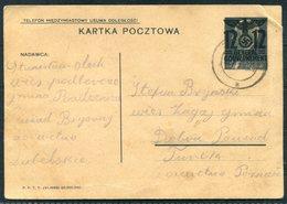 1940 Poland General Gouvernement 12/15 Gr Overprint Stationery Postcard - General Government