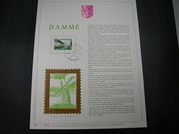 "BELG.1980 1977 FDC Filatelic Gold Card NL. : "" DAMME "" - 1971-80"