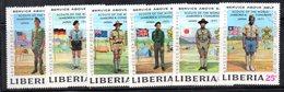 Z1040 - LIBERIA 1971 , Serie Completa Usata (2380A) Scout Japon - Liberia