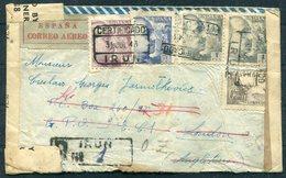 1943 X 2 Censor Airmail Registered Covers Irun, Madrid - Lisbon, London Undercover PO Box Address. Polish Escaper? - 1931-Today: 2nd Rep - ... Juan Carlos I